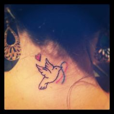 Miscarriage ribbon/remembrance tattoo similar to what I'm getting for my Baby G in Nov. <3 10/14/13