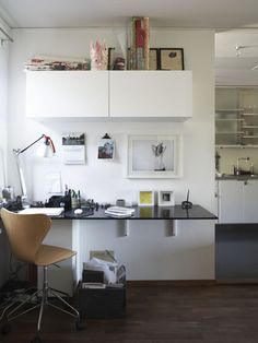 Neat and simple home office