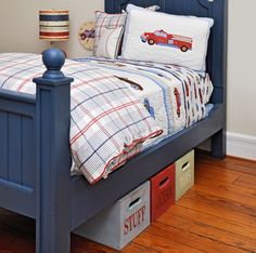 Fun storage idea. And kids can use this independently? Even better.