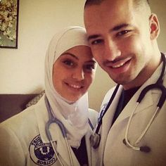 #couple #médecins #muslim #cute #médecine