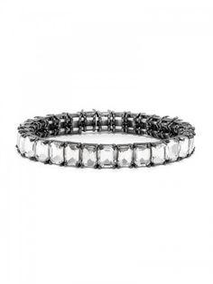 Radiant Cut Gem Stretch Bracelet Bracelet | BaubleBar