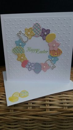 Basket Bunch from Stampin Up Easter garland card