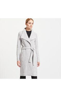 Kabát gyapjúval kevert anyagból, KABÁTOK, DZSEKIK, szÜrke, RESERVED