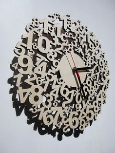 Confusing times - wooden laser cut clock. $89.00, via Etsy.