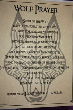 Wolf Prayer Parchment Book of Shadows Page!  pagan wicca witch
