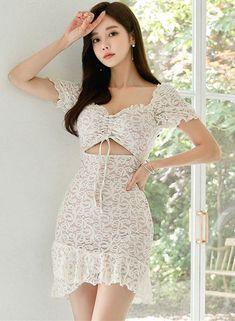 Korean Girl Fashion, Asian Fashion, Pretty Dresses, Sexy Dresses, Sexy Costumes For Women, Stylish Girl Images, Beautiful Asian Women, Sexy Asian Girls, Women's Fashion Dresses