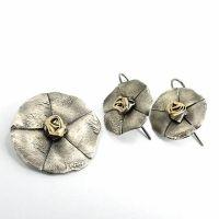 Ezüst szett kő nélkül Clock, Stud Earrings, Jewelry, Watch, Jewlery, Jewerly, Stud Earring, Schmuck, Clocks