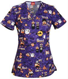 Halloween Print Scrub Tops: Best Scrub Tops For Halloween Nurses