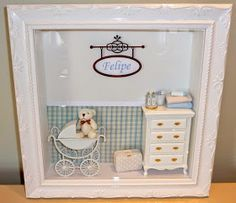 Miniature Rooms, Miniature Furniture, Box Frames, Frames Ideas, Personalized Photo Frames, Altered Boxes, Frame Display, Shadow Box, Shabby Chic