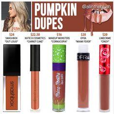 Kylie Cosmetics' newest shade Pumpkin dupes
