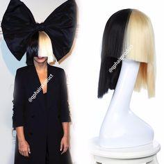 Sia rubia peluca Bob Contundente de Espesor Superior de la Peluca de cosplay de Las Mujeres Medio 2 Tono de Cabello rubio y Negro Recta Corta de Cosplay Peluca