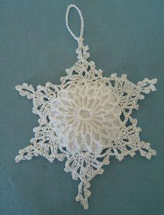 Crocheted star ornament