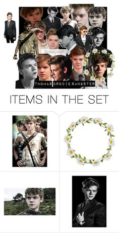 """Thomas Brodie sangster"" by daisy-alien on Polyvore featuring art, themazerunner, newt, thomassangster and ThomasBrodieSangster"