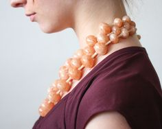 1950's coral bead necklace.