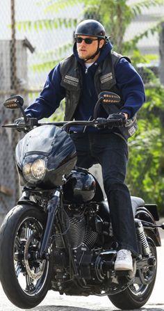 Yea you ride that harley Jax . SOA . Charlie Hunnam