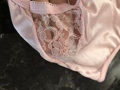 840f0b29aab5 Vintage Granny Panties NOS Silky Sheer Pink Lace Nylon Sissy Brief Sz –  Discreet Vintage Clothing