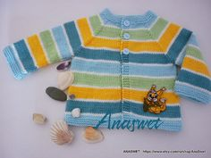 Knitted baby.Hand knitted baby cardigan .Baby cardigan от AnaSwet