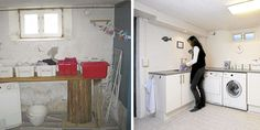 DEN STORE FORSKJELLEN: Fra et rått og kaldt interiør til et rent og hvitt rom…