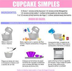 Aprenda a fazer Cupcake caseiro e como decorar para o natal! Veja mais em nosso blog: Arrase no penteado nas festas de final de ano. Veja mais em nosso blog: http://dicasdacasa.com/cupcake-de-papai-noel/