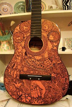 Beatles Guitar by Julia Ockert  @Lindsey Newman will you please do something like this for me one day?