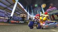 RoomMates Nintendo - Mario Kart 8 Removable Wall Mural - feet X 6 feet for sale online More Wallpaper, Print Wallpaper, Wallpaper Backgrounds, Wallpaper Murals, Cartoon Wallpaper, Mario Kart 8, Gamer Room, Baby Nursery Decor, Background Images