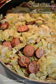 Fried Cabbage With Sausage Recipe - Low Carb