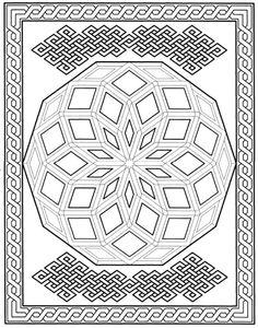 Mandala 654, Creative Haven Modern Mandalas Coloring Book, Dover Publications