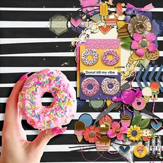 Donut Kill My Vibe, Just Eat It, Shadow Box, Digital Scrapbooking, Make It Yourself, Creative, Sweet, Summer, Candy