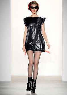 Garbage Bag Dress.  Stylish dress made by Jeremy Scott out of regular plastic trash bag.