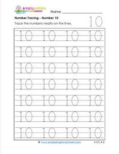 learning numbers worksheets | Learning Numbers With Dots http://www ...