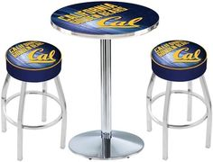 California Berkeley Bears Chrome Pub Table Set