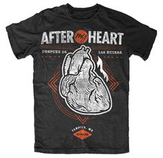 After My Heart black tee with anatomical heart tattoo