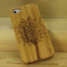1ddf8e9f6a1 Case For iPhone 5S 5 iPhone SE 100% Natural Green Real Wood Wooden Bamboo  Carving