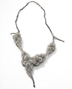 Sam-Tho Duong, Frozen, collier, zilver, parels