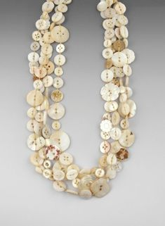 Antique Buttons Necklace by Chloe French by evangeline