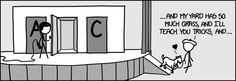 """XKCD has a great take on the classic """"Monty Hall"""" problem. If you don't know about the MH problem you should Google it.   Basically, Monty asks you to choose a door. There are two goats and a car. They show you one of the two that is not yours and not the car, then he asks if you'd like to switch or keep your same choice.  It is absolutely counter-intuitive, but absolutely true that you should ALWAYS SWITCH, and this is hotly debated, but it changes your odds of getting the car from 1/3 to…"""
