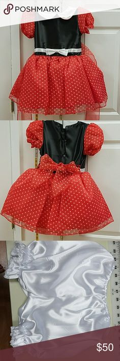 Minnie mouse dress Never worn, brand new, 3 piece costume with bloomers and headband bijan Costumes Halloween