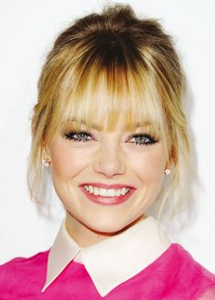 Emma Stones bangs. People tell me I look like her all the time, so maybe I can pull of these bangs!