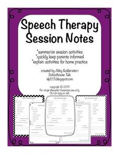 Speech therapy Ideas