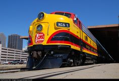 RailPictures.Net Photo: KCS 1 Kansas City Southern Railway EMD F7(A) at New Orleans, Louisiana by Adam Auxier