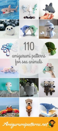 has the largest collection of free and premium Sea Animals amigurumi patterns. Click now and discover wonderful crochet patterns! has the largest collection of free and premium Sea Animals . Leslie Finn l Owl Crochet Patterns, Amigurumi Patterns, Sewing Patterns Free, Free Pattern, Crochet Sea Creatures, Crochet Animals, Crochet Toys, Stuffed Animal Patterns, Stuffed Animals