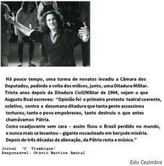 Edu Cezimbra: Augusto Boal e a ditadura de 1964