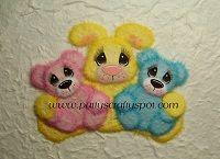 Tear Bunny with Baby Bears