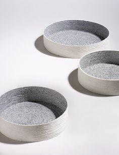 Silver blonde | Bowls, by Lut Laleman