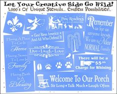 Stencil Website... great for ideas too!