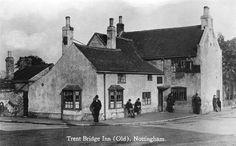 The Original Trent Bridge Inn, Radcliffe Road, West Bridgford, Nottingham, late century. Local History, Family History, Old Pictures, Old Photos, Nottingham Pubs, British Pub, Old Pub, England Uk, The Past