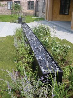 beautiful home gardens with fountains long rows of fountains plants house exterior contemporary landscape of Beautiful Home Gardens with Fountains to be Inspired By