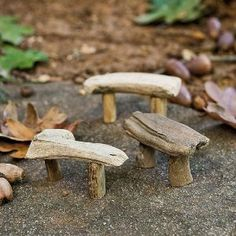 Miniature Fairy Garden Driftwood Bench, Assorted:Amazon:Patio, Lawn & Garden