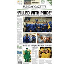 The front page of the Taunton Daily Gazette for Sunday, June 7, 2015.
