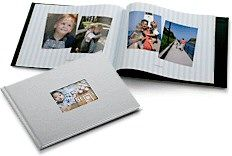 Can't scrapbook or don't have the time?  Consider making a Photo Book online.  You can pick the size, color and style and you can include a large number of pictures with or without captions.  Another nice feature is that you can order multiple copies as gifts!.